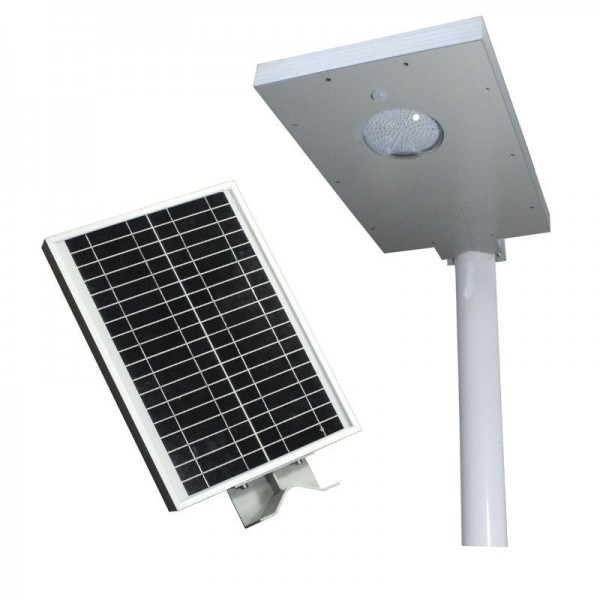 All In One Integrated Solar Streetlight of 15 watts With Inbuilt Solar Panel and Battery