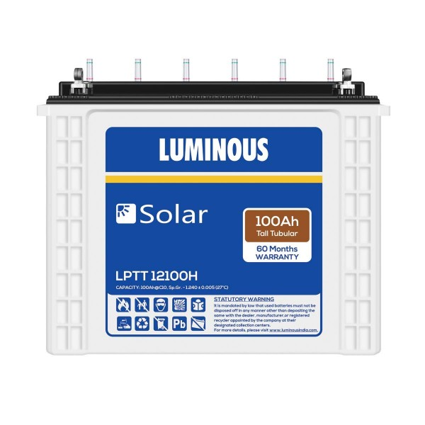 Luminous Solar 100 Ah Tubular Battery