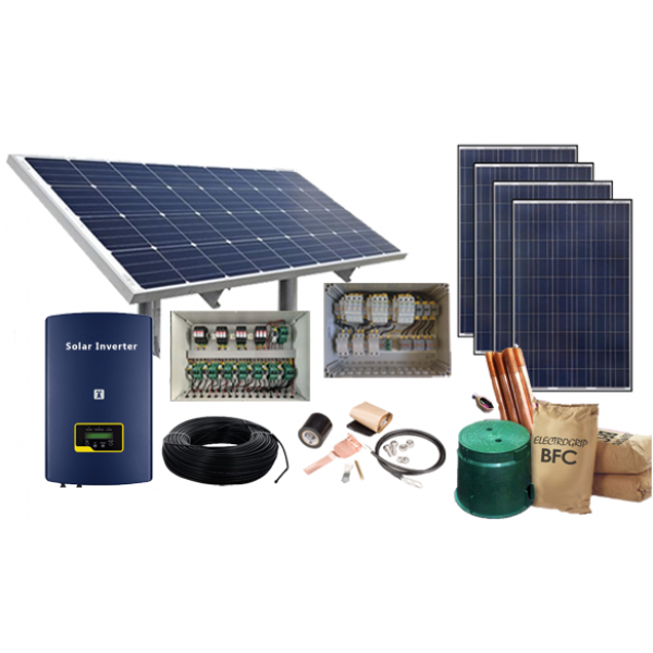 6 kwatt, 3 Phase on-Grid Solar Power System