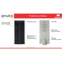18 watt Havells Enviro Solar LED Street Lights