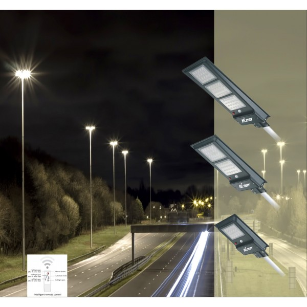 40 watt Hi-WAY Solar Integrated LED Street Light with sensor