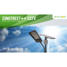 15 watt Intelizon Zonstreet Li++ Solar LED Street Lights with CCTV camera