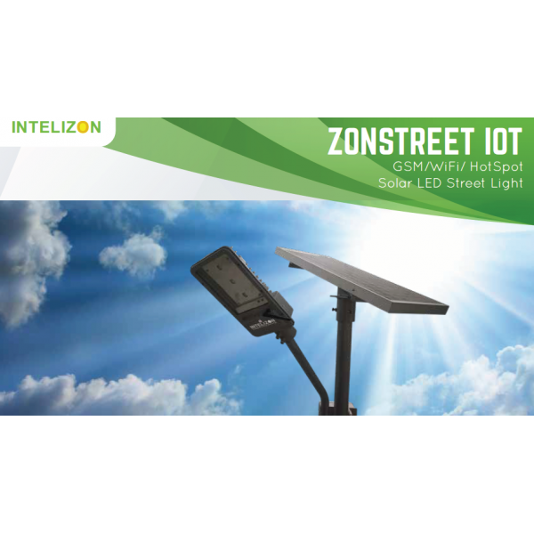 30 watt Intelizon Zonstreet Li4 Solar LED Street Lights with GSM/Wifi/Hotspot