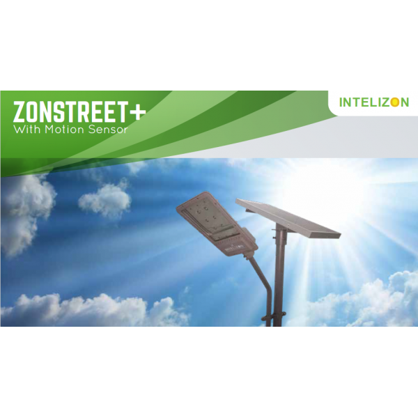 50 watt Intelizon Zonstreet Li+ Solar LED Street Lights with Motion Sensor