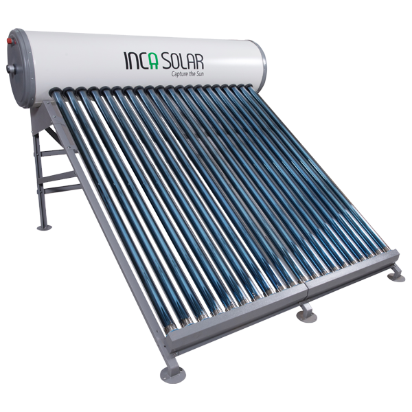 250 LPD ETC INCA Solar Water Heater With HDGI Tank