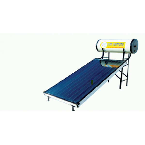 100 LPD FPC Sun Diamond Non-Pressurized Solar Water Heater With Copper Tank