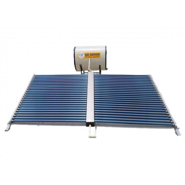 500 LPD ETC Sun Diamond Solar Water Heater with Copper Tank