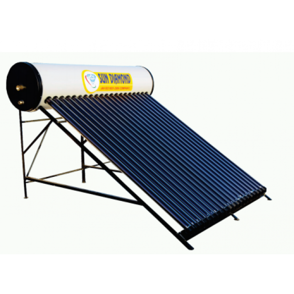 250 LPD ETC Sun Diamond Solar Water Heater With GI Tank
