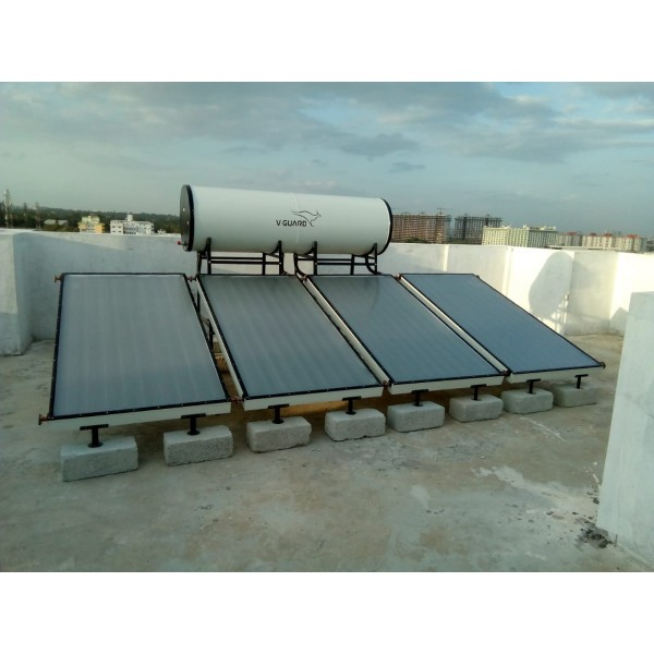 500 LPD FPC V-Guard Solar Water Heater