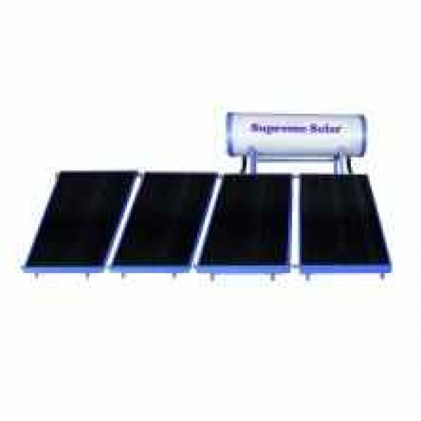 500 LPD High Pressure FPC Supreme Solar Water Heater with (2 x 1) m panel size